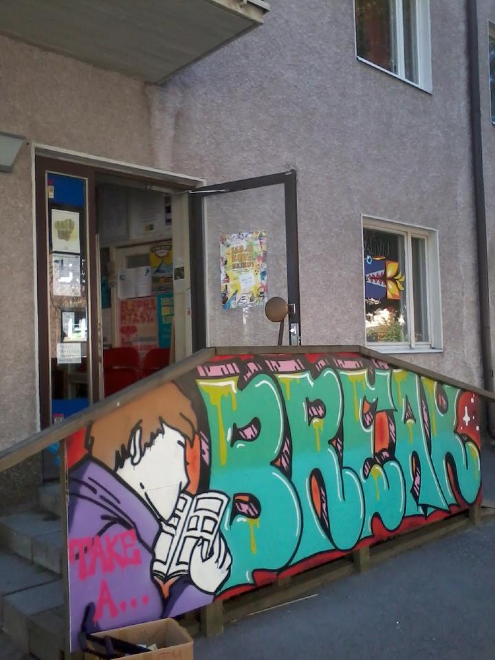 take a break graffiti sarjakuvakeskus comics center
